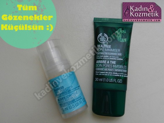 seaweed pore perfector ve tea tree pore minimiser