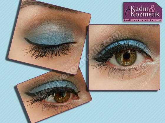 flormar göz makyajı mavi