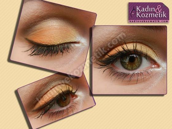 flormar göz makyajı turuncu sarı