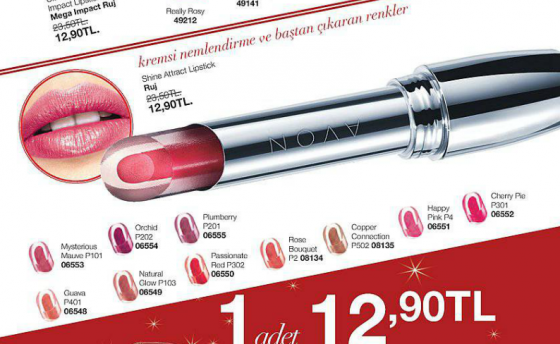 avon shine attract lipstick