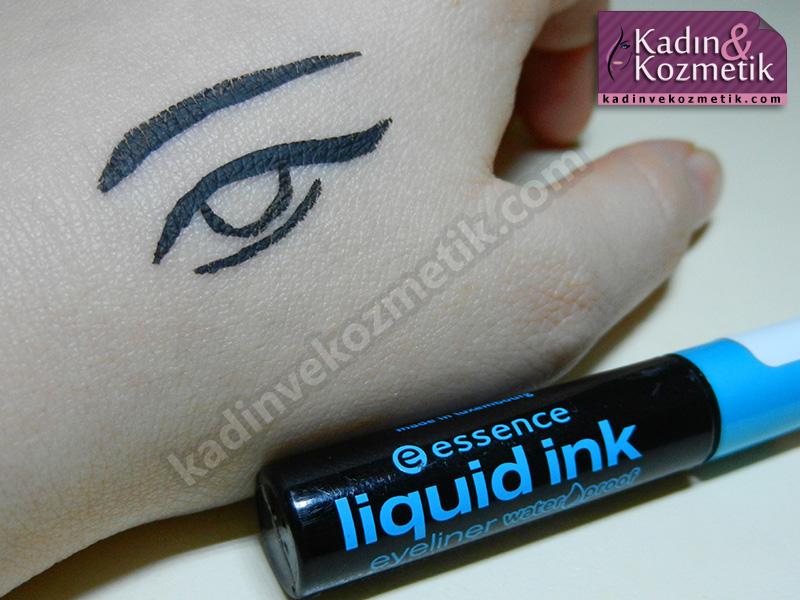 essence liquid ink eyeliner uygulamasi