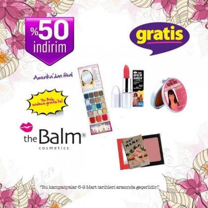 gratis the balm indirim