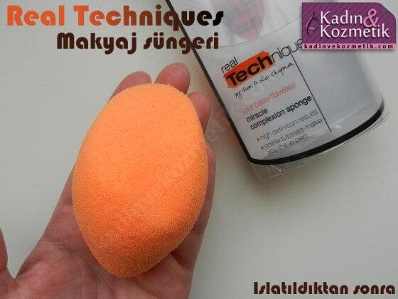 real techniques makyaj süngeri ıslak hali
